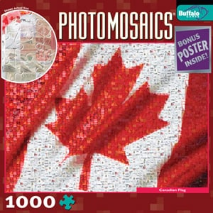 Canadian Flag photomosaic jigsaw puzzle robert silvers canadianflag 536 tiny photographs mosaic puzz canadianflag