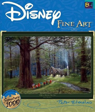 disney fine art collection, peter ellenshaw off to home we go, 1000 pieces buffalo jigsaw puzzle offtohomewego