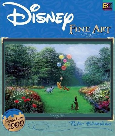 disney fine art collection, rescuing piglet, peter ellenshaw, buffalo jigsaw puzzles rescuingpiglet