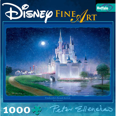 disney fine art collection, cinderella's grand arrival, bonus poster inside, peter ellenshaw art cinderellasgrandarrival