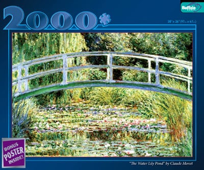 the water lily pond by claude monet, great painters jigsaw puzzles thewaterlilypond