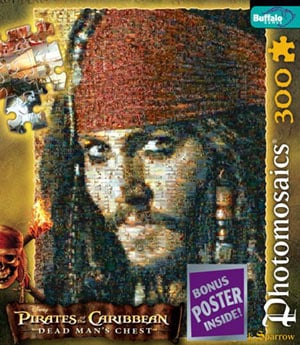pirates of the caribbean at world's end, buffalo jigsaw puzzle, jack sparrow jacksparrow