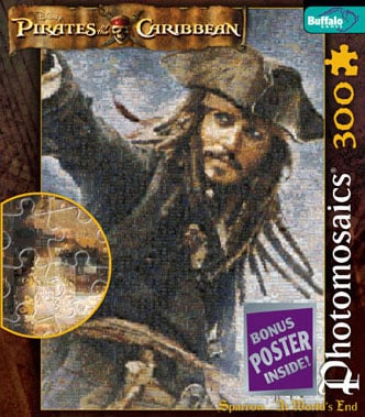 Pirates of the Caribbean Disney Photomosaic Jigsaw Puzzle by Buffalo Jack Sparrow At World's End Jig pirates-of-the-caribbean-disney-jack-sparrow-world