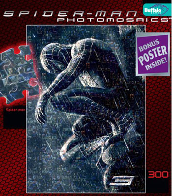 spider-man movies jigsaw puzzle by buffalo, venom black costume spiderman3blackcostume