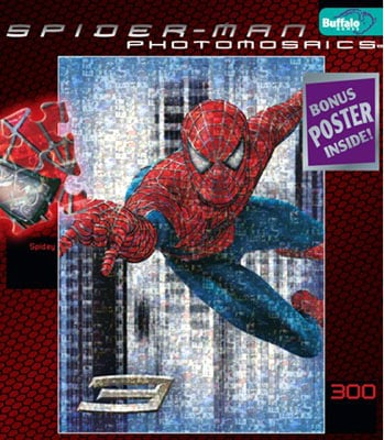 spider-man movies jigsaw puzzle by buffalo, spidey spidey