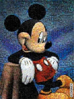 mickey mouse jigsaw puzzle, photomosaic series buffalo puzzle mickeymouse