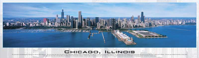 chicago illinois panoramic jigsaw puzzle, 765 pieces puzzle, chicagoillinois
