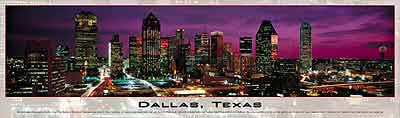 dallas texas 2d puzzle by buffalo, panoramic jigsaw puzzle dallastexas