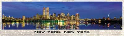new york city jigsaw puzzle, flat 2d panoramic jigsaw puzzle newyorkny