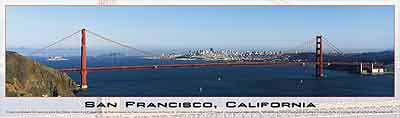 san francisco, california buffalo jigsaw puzzle, panoramic view of frisco sanfranciscocalifornia