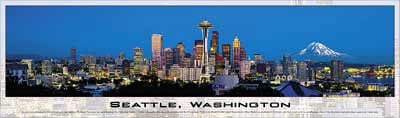 seattle washington panoramic jigsaw puzzle by buffalo seattlewashington