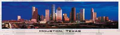 houston texas buffalo jigasw puzzle, panoramic photograph by james blakeway houstontexas