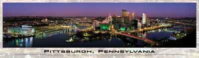 pittsburgh pennsylvania buffalo jigsaw puzzle, panoramic puzzle, james blakeway pittsburghpennsylvania