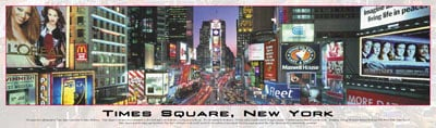 panoramic buffalo puzzles 750 pieces, breathtaking cityscapes, times square timessquarenypuzzle