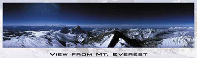 mount everest jigsaw puzzle, famous mountains, panoramic jigsaw puzzle by buffalo mounteverest