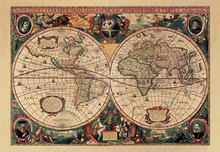 Buffalo jigsaw puzzle old world map puzzel item 2002 nova totius terrarum orbis geographica ac hydrographica tabula world map jigsawpuzzle olden times oldworldmap gumiabroncs Images