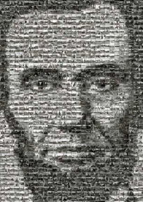 photomosaic jigsaw puzzle of lincoln by buffalom, artist robert silvers, 1000 pieces lincoln
