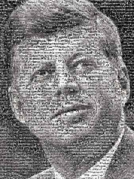 jfp photomosaic by robert silvers, jigsaw puzzle by buffalo jfk