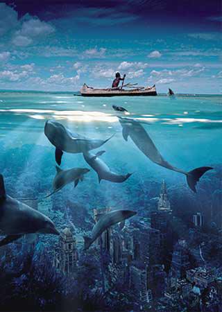 dolphin's secret buffalo jigsaw puzzle, cyberrealism dolphinssecret
