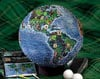 world of golf 3d puzzle manufactured by buffalo difficult puzzle