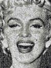 marilynmonroe,photomosaics marilyn monroe, 1000 pieces buffalo jigsaw puzzle, poster inside