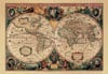 nova totius terrarum orbis geographica ac hydrographica tabula world map jigsawpuzzle olden times