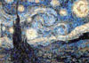 van gogh starry night, photomosaic jigsaw puzzle, silvers