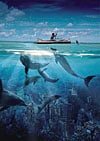 dolphin's secret buffalo jigsaw puzzle, cyberrealism