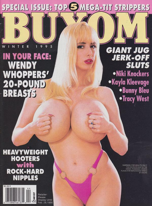 Buxom Winter 1995 magazine back issue Buxom magizine back copy buxom magazine 1995 back issues giant jug jerk-off sluts hottest curvy babes spread wide gigantic ti