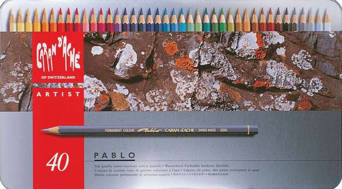 Caran D'ache Pablo Colour Pencil Set of 40 pablo-40