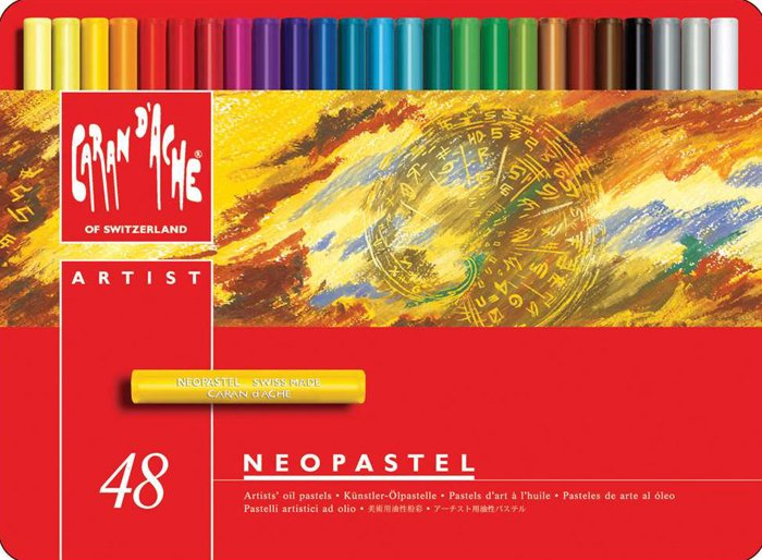 Caran D'ache Neopastel Oil Pastels Set of 48. Swiss Made. neopastel-48