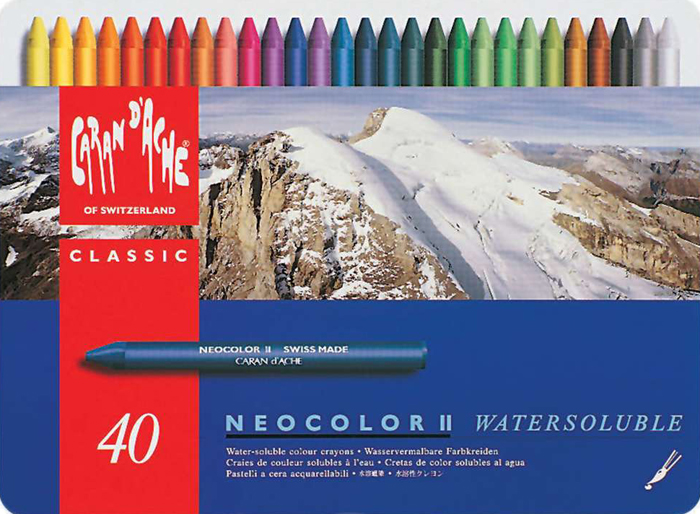Caran d'Ache Neocolor II Water Soluable Wax Pastels (40 Colors) neocolor-ii-caran-dache
