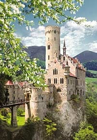 1000 pieces jigsaw puzzle by castorland, lichtenstein castle germany lichtensteincastle