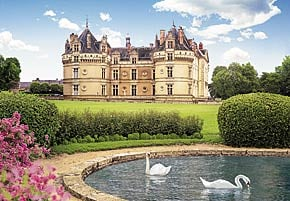 1000 pieces jigsaw puzzle by castorland, le lude castle france leludecastle