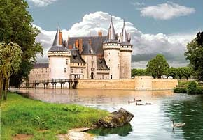 1000 pieces jigsaw puzzle by castorland, sully-sur-loire castle france sullysurloirecastle