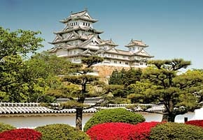 1000 pieces jigsaw puzzle by castorland, himeji castle japan himejicastle
