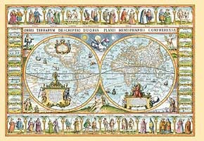 1000 pieces jigsaw puzzle by castorland, map of the world mapoftheworld