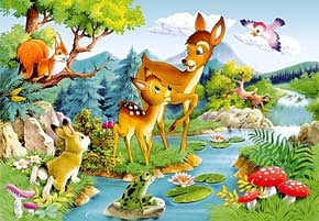 1000 pieces jigsaw puzzle by castorland, little deer littledeer