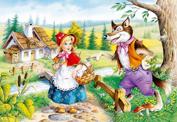 1000 pieces jigsaw puzzle by castorland, little red riding hood littleredridinghood