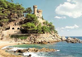 1000 pieces jigsaw puzzle by castorland, lloret del mar spain lloretdelmar