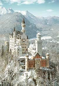 1000 pieces jigsaw puzzle by castorland, neuschwanstein castle in winter neuschwanstecastleinwinter
