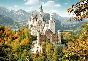 1000 pieces jigsaw puzzle by castorland, neuschwanstein castle germany neuschwansteincastlegermany