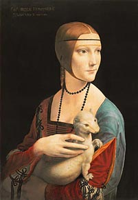 1000 pieces jigsaw puzzle by castorland, lady with the ermine leonardo davinci ladywiththeermine