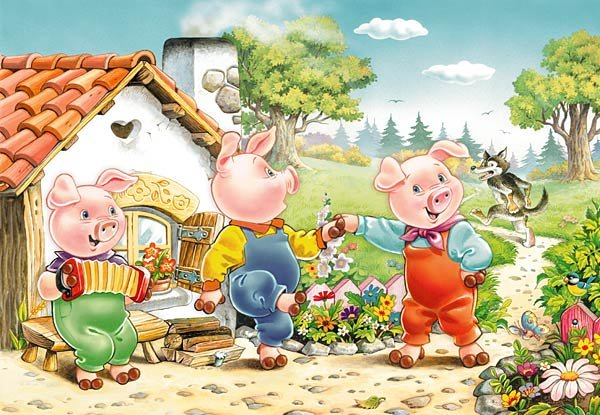 1000 pieces jigsaw puzzle by castorland, three little pigs threelittlepigs