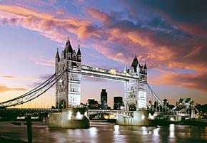 1000 pieces jigsaw puzzle by castorland, tower bridge london england towerbridge