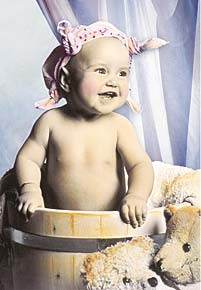1000 pieces jigsaw puzzle by castorland, baby smile babysmile
