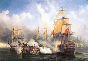 1000 pieces jigsaw puzzle by castorland, the redoutable at trafalgar theredoutableattrafalgar