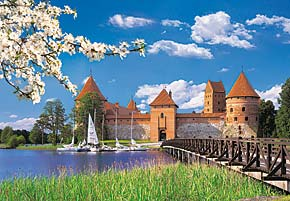 1000 pieces jigsaw puzzle by castorland, trakai castle lithuania trakaicastle