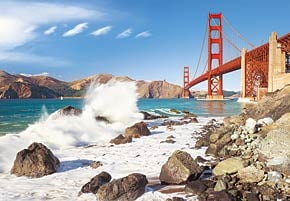 1000 pieces jigsaw puzzle by castorland, golden gate bridge san francisco goldengatebridge