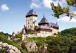 1000 pieces jigsaw puzzle by castorland, karlstein castle czech republic karlsteincastle